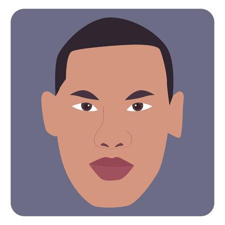man face: Vector illustration of man face
