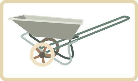 hauling: Vector illustration of cart mortar Illustration