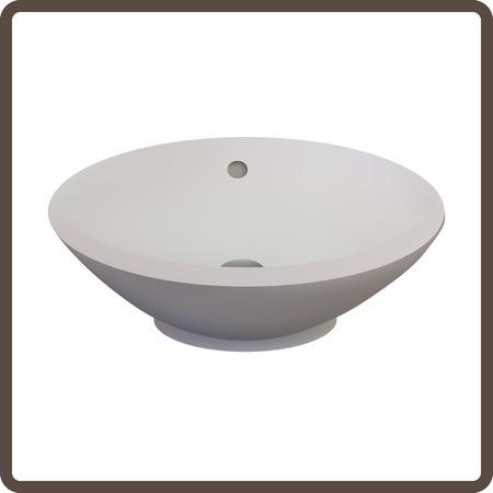 washbasin: Vector illustration washbasin Illustration
