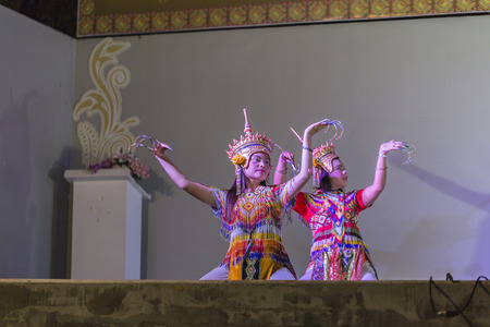 manora: KRABI, THAILAND - AUGUST 27: Manora show at Chawfa street on August 27, 2015 in Krabi, Thailand.