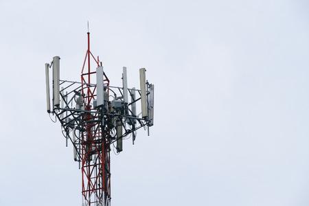 communication tower: Large communication tower Stock Photo