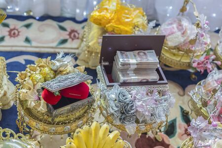 dowry: The Dowry Marriage in Thai Culture Stock Photo
