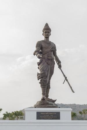 king ramkhamhaeng: PRACHUAP KHIRI KHAN, THAILAND - JANUARY 7: Thai king Ramkhamhaeng the great monument at Rajabhakti Park on January 7, 2016 in Prachuap Khiri Khan, Thailand.