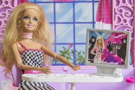 KRABI, THAILAND - JANUARY 16: Barbie in the doll house on January 16, 2017 in Krabi, Thailand.