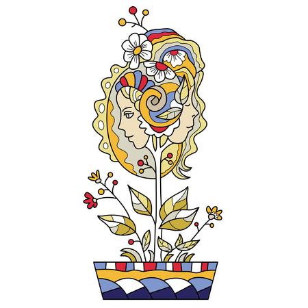 whose: vegetali fantasiosa cui frutti assomigliano teste femminili