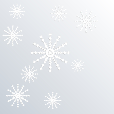 surround: snowflake pattern on paper background 3d surround