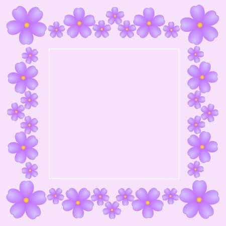 violets: vintage gentle pink background with bright violets