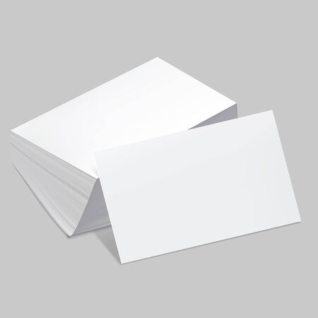 visiting card: Stack of blank business card with one card in front  Vector illustration