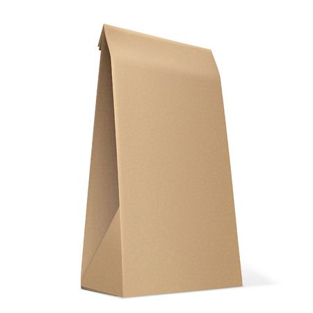 coffee sack: Paper Bag isolated on white  Vector Illustration Illustration