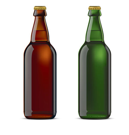 metall: Beer bottle isolated. Vector illustration