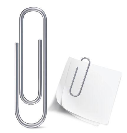 paper clips: Paper clip. Vector illustration