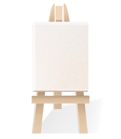 Wooden easel isolated on white. Vector illustration Vector