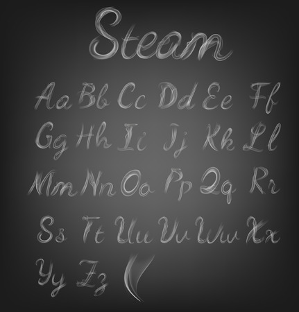 Steam Alphabet. Vector illustration