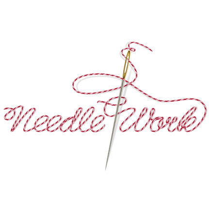 needle and thread: Sewing needle with red thread Needle Work. Vector illustration Illustration