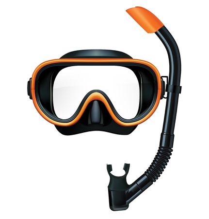 Dive mask and snorkel for professionals. Vector illustration Illustration