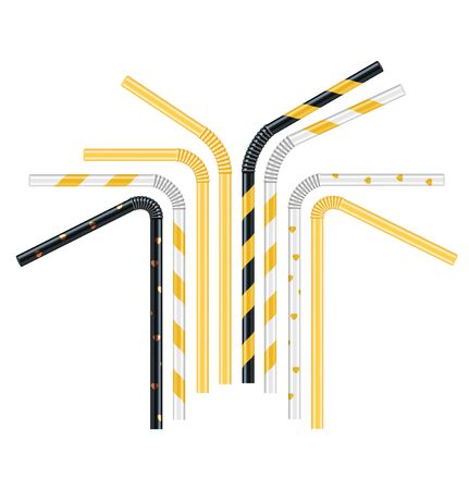 Set of cocktail tube. Vector illustration