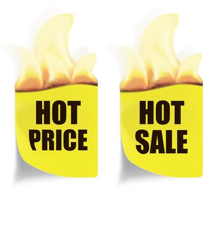 pape: Hot Price, Hot Sales Labels. Vector illustration Illustration