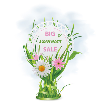 Summer sale card. Vector illustration Illustration
