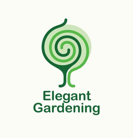 Elegant gardening. Tree icon. Vector illustration Ilustrace