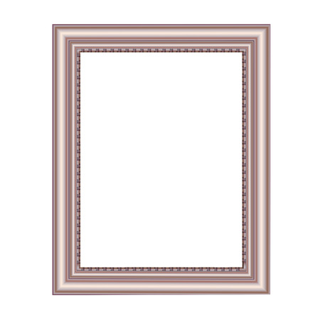 silvery: Decorative rectangular frame of silvery color