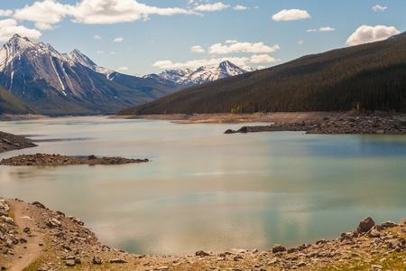 jasper: Medicine Lake, Jasper National Park, Alberta, Canada Stock Photo