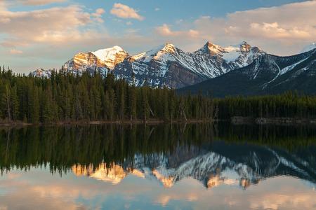 alberta: Herbert Lake, Alberta, Canada Stock Photo