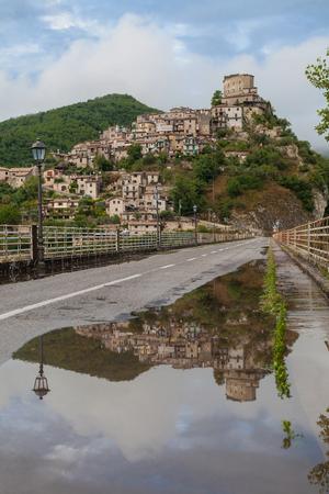 tora: Castel di Tora, Lake of Turano, Italy