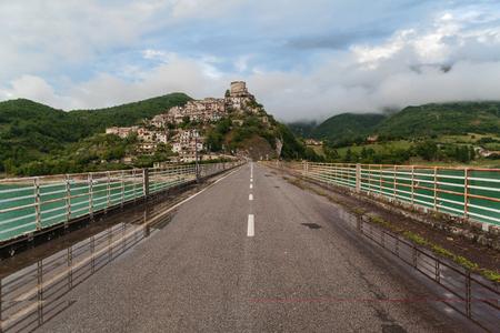 castel: Castel di Tora, Lake of Turano, Italy