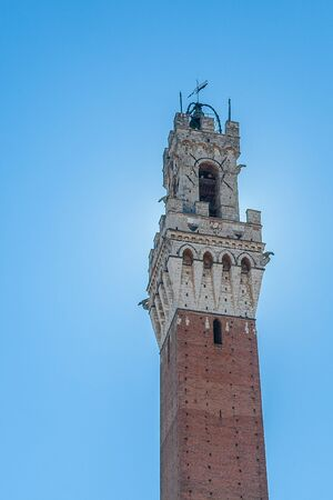 siena italy: Tower of Mangia, Siena, Italy Stock Photo