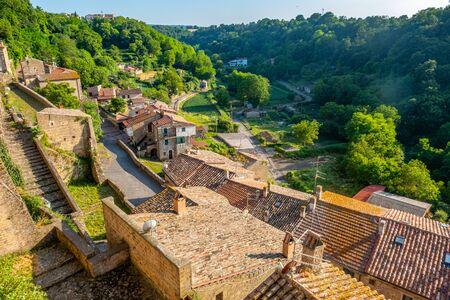 The ancient village of Onano, province of Viterbo, Lazio, Italy