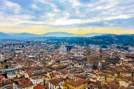 View of the city of Florence from above, Italy Stockfoto