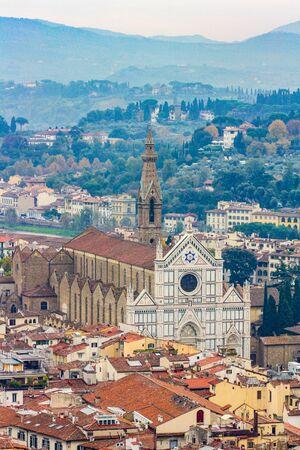 The church of Santa Maria Novella from above, Florence, Italy