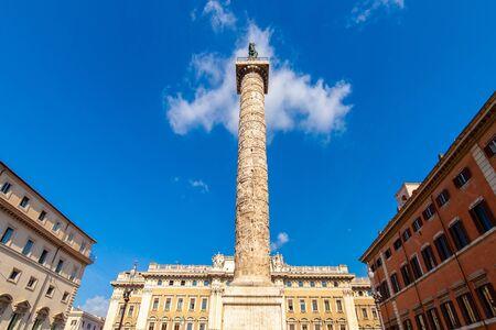 The Trajan column, Rome Italy Banco de Imagens