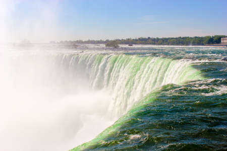 Scenic view of impressive and famous Niagara Falls, Ontario, Canada