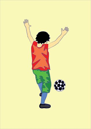 mirth: The illustration of a soccer player