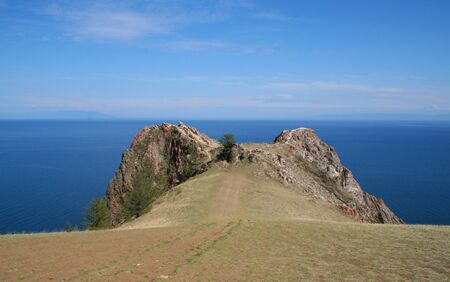 The rock of Love. The Olkhon island, Baikal lake, Russia. photo