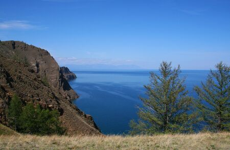 The view from rock of Love. The Olkhon island, Baikal lake, Russia. photo