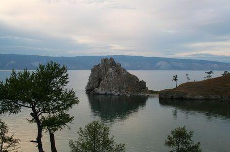 The Cape Burhan on Baikal Lake, Russia. photo