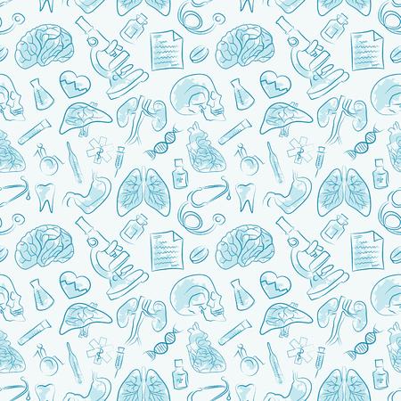 Medical vectors seamless pattern