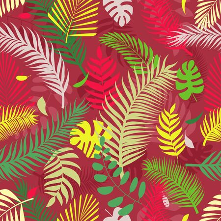 Summer exotic floral tropical palm leaves background. Ideal for textile.