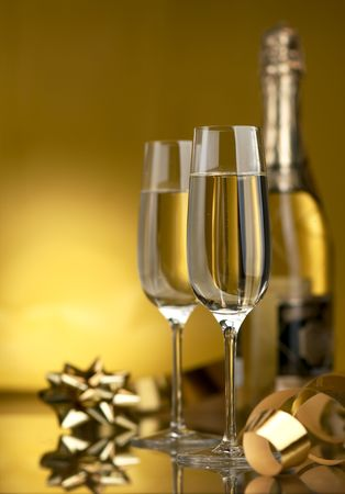 Wine. Champagne Stock Photo