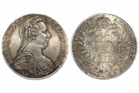thaler: Austria 1 thaler 1780 old silver coin
