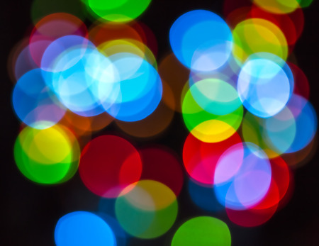 electric light colored bokeh abstract kaleidoscope background photo