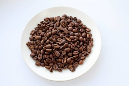 coffee beans for grinding and cooking flavored drink Stock Photo