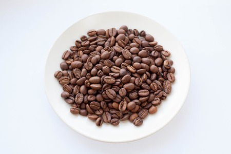 flavored: coffee beans for grinding and cooking flavored drink Stock Photo