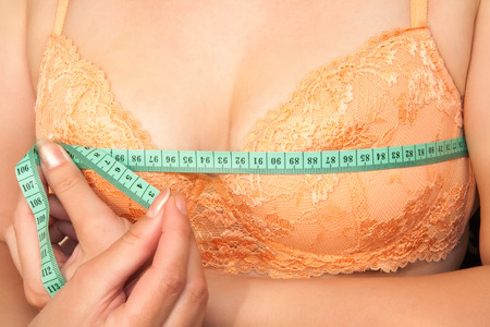 young breast: Woman brassiere Stock Photo