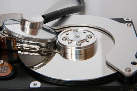 closeup: Closeup view of hdd cylinder and fanendoskop