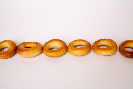 doughy: plain bagels on white background