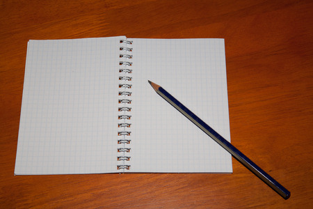 pencil on a notebook photo