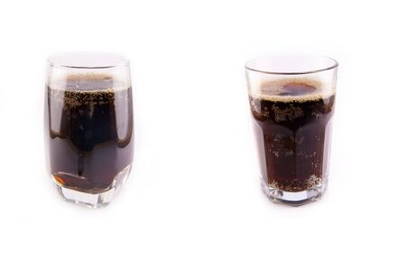 Cola glass on a white background Stock Photo